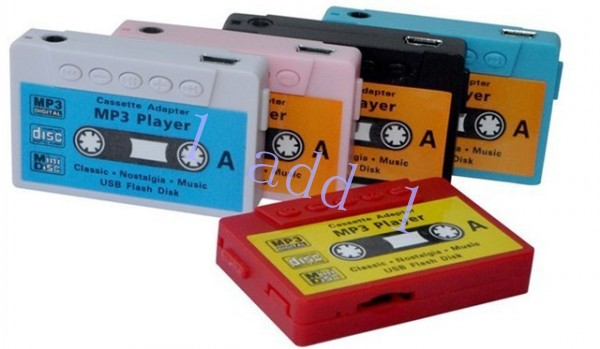 Hot Sale Mini Cassette Tape Shape MP3 Music Player, Support microSD(TF) Card,free shipping 10pcs(China (Mainland))