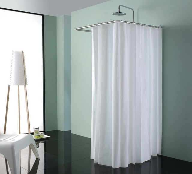 Simple shower room shower curtain shower curtain rod