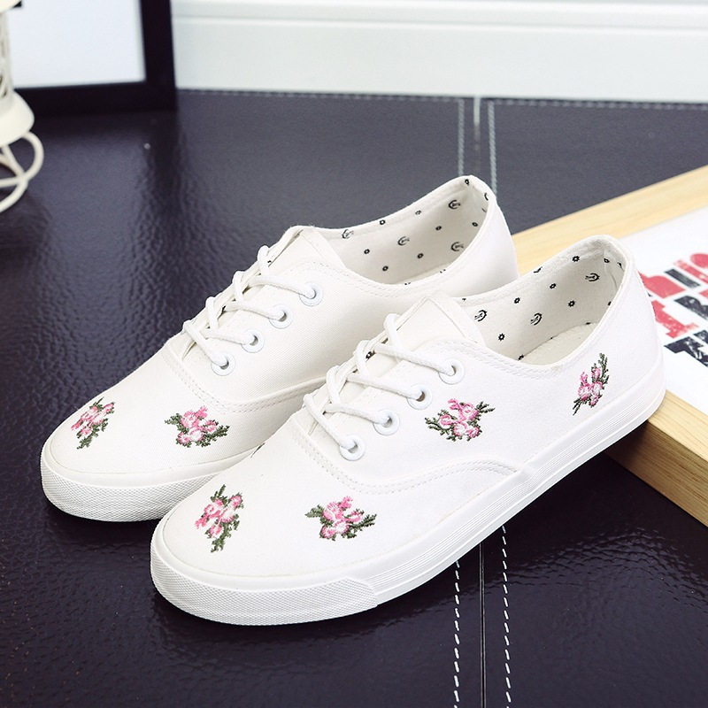 Women's casual shoes 2016 fashion Flats skid Printing women canvas shoes(China (Mainland))