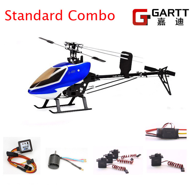 Freeshipping  GARTT GT450 Standard Combo PRO TT 2.4GHz 6Ch Torque Tube Helicopter 100% fits Align Trex 450 RC Helicopter