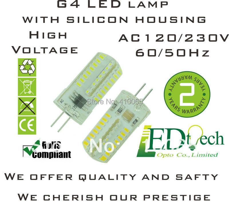 230v Led Bulb ac 230v 4w Silicon Mini g4 Led