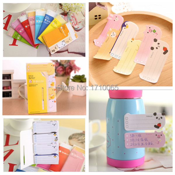 product New Cute To Do List Kawaii Sticker Memo Flags Marker Post It Bookmark Planner Stickers Index Tab Sticky Notes Stationery