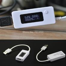 L155 envío gratis LCD capacidad de carga USB actual probador del voltaje del medidor para el teléfono banco de la energía