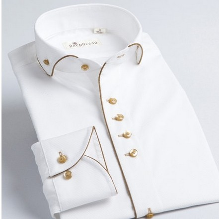 New french style male long sleev collar cotton 100 slim for French collar dress shirt