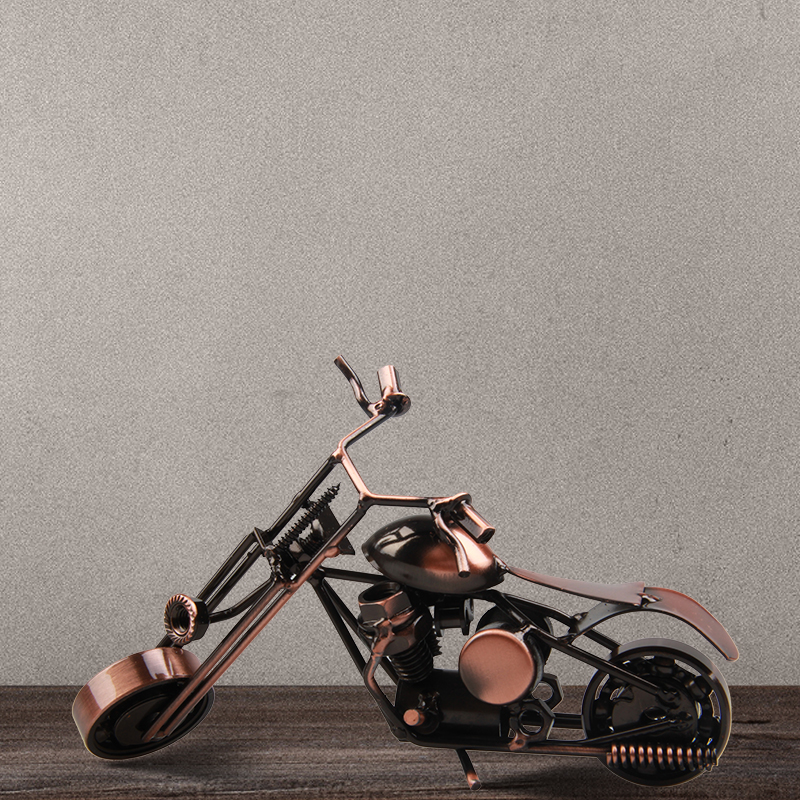 Vintage motor model hand made retro Harley motorcycle model home luxury furnishing decoration metal craft Creative home(China (Mainland))