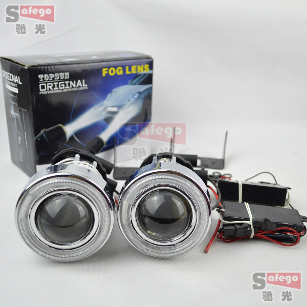 Projector Len angel eye  with H3 Halogen Fog Lights  H3 Driving Lamps with Protective cover H3 halogen lens<br><br>Aliexpress