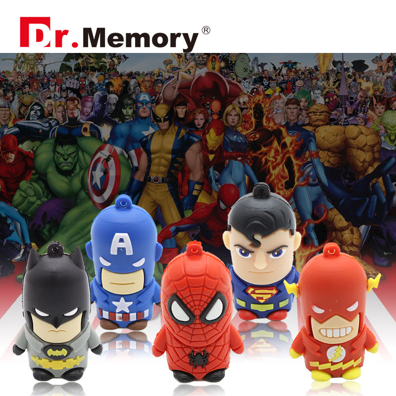 USB flash drive super hero USB disk 32g iron man pen drive the avengers usb flash shield pendrive captain America USB2.0(China (Mainland))