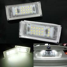 Error Free Pair 18 LED 6000K For HID License Plate Light For BMW E46 4D 4Doors 323i 325i 328i 99-03(China (Mainland))