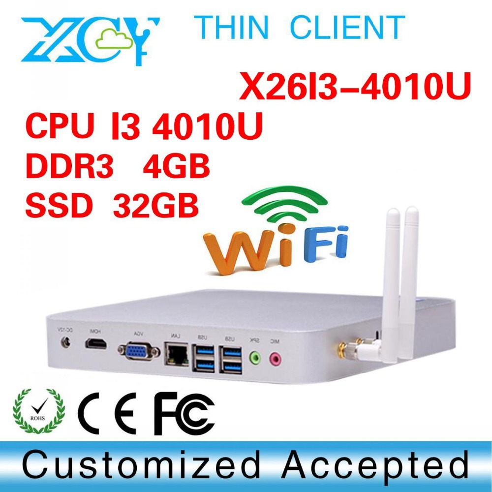 Low price and best quality core i3 4010u 4gb ram 32g ssd virtual PC drawing room computer net computer wireless pc station(China (Mainland))