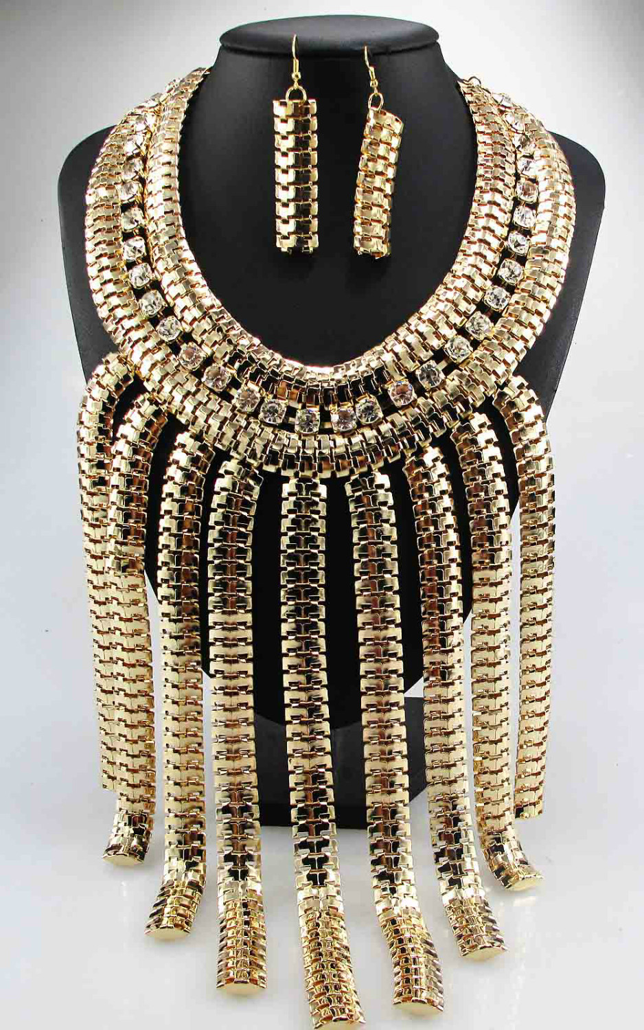 Newest Gorgeous Fashion 9k GF Necklace Jewelry crystal ra Department Statement Necklace Women Choker Necklaces Pendants(China (Mainland))