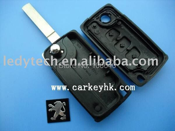 High quality Peugeot 3 button 307 remote key shell with trunk button no battery place CE0523