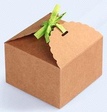 Free shipping 50pcs 9*9*6cm Mousse box kraft paper carton West Point DIY gift box candy box wholesale(China (Mainland))