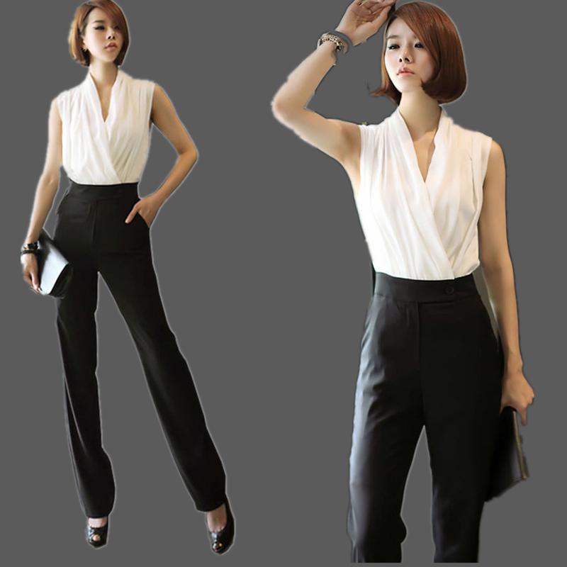 Wonderful  Jumpsuits Work Wear Black Button Front Bodycon Rompers Womens Jumpsuit