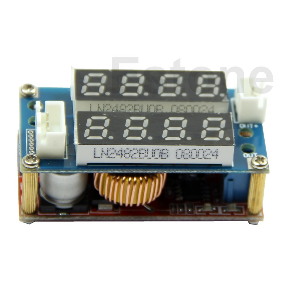 Free Shipping 5A Adjustable Power CC/CV Step-down Charge Module LED Driver Voltmeter Ammeter(China (Mainland))