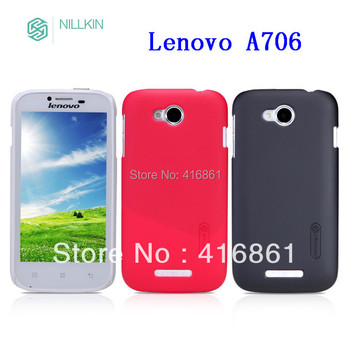 NILLKIN Super Frosted Shield case for Lenovo a706 with screen protector and retailed package by free shipping