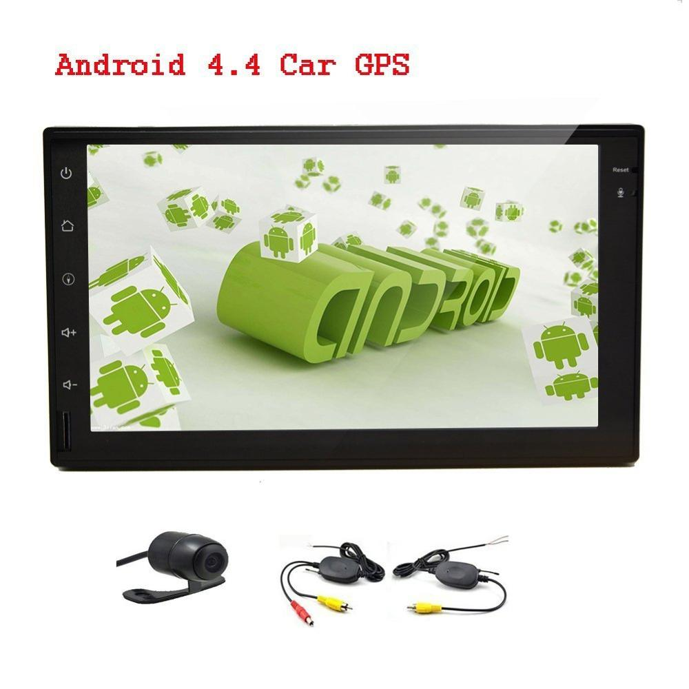 Double 2 Din Android 4.4 Car Radio Headunit Car GPS Navigation Receiver Car Autoradio Free Wireless Camera NO-DVD Player(China (Mainland))