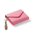 Famous Brand New Fashion Envelope Purse Fashion Simple Bi fold Wallet Metallic Tassel Ornament Simple Small