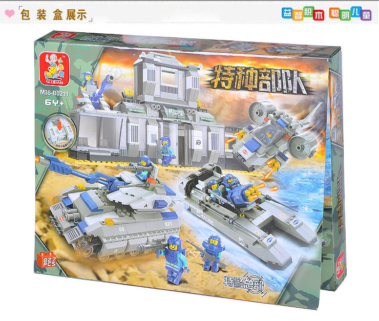Building Block Sets Compatible lego SWAT Headquarters military 3D Construction Brick Educational Hobbies Toys Kids