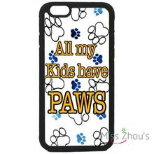 For iphone 4/4s 5/5s 5c SE 6/6s 7 plus ipod touch 4/5/6 back skins mobile cellphone cases cover Paws Paw Pattern Cute Dog Cat