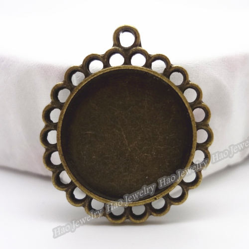 40pcs Vintage Charms Base Pendant Antique bronze Zinc Alloy Fit Bracelet Necklace DIY Metal Jewelry Findings(China (Mainland))