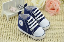 New Infant Toddler Newborn Baby Shoes Unisex Kids Classic Sports Sneakers Bebe Soft Bottom Anti-slip T-tied Shoes 6Colors 3Size(China (Mainland))