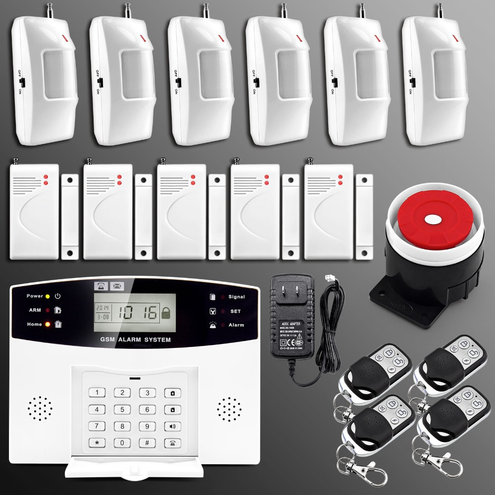 Wireless Wired Alarm Systems Security Home LCD speaker Keyboard Sensor GSM Alarm System English Russian Spanish French Voice(China (Mainland))
