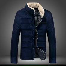 Men's Clothing Coats & Jackets Down & Parkas winter outerwear 2016 plus velvet corduroy outerwear super thermal wadded jacket