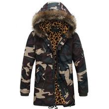 Leopard Camouflage Down Jackets 2014 military parka Fashion Brand Men's Camo Sports Snow mens Winter Coats Free Shipping SMW054