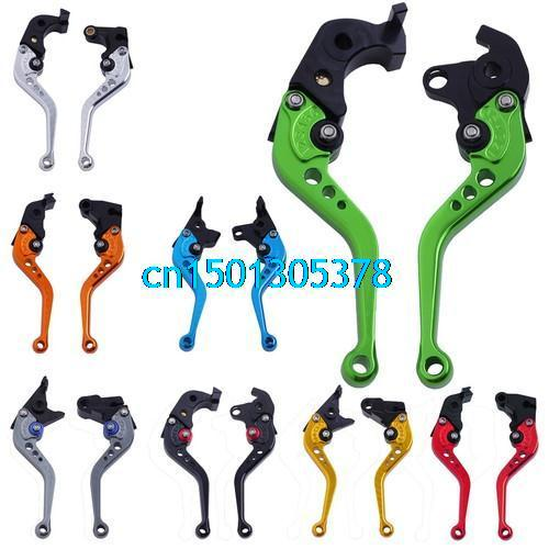 CNC Adjustable Brake Clutch Levers NINJA ZX10R 06 07 08 09 10 11 12 Color 8 + Free Gift ( Key ) - huayun ji's store