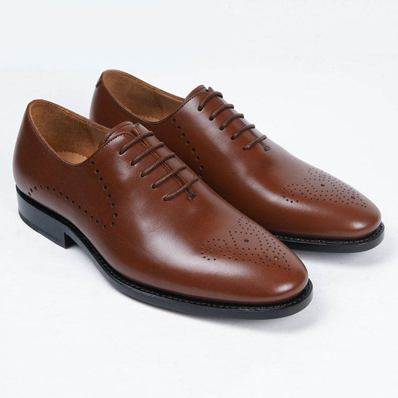 Goodyear boutique mens leather shoes handmade oxford shoes brown color lace round men dress shoes casual<br><br>Aliexpress