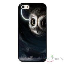 For iphone 4/4s 5/5s 5c SE 6/6s plus ipod touch 4/5/6 back skins mobile cellphone cases cover Owl Bird Art Nights Sky