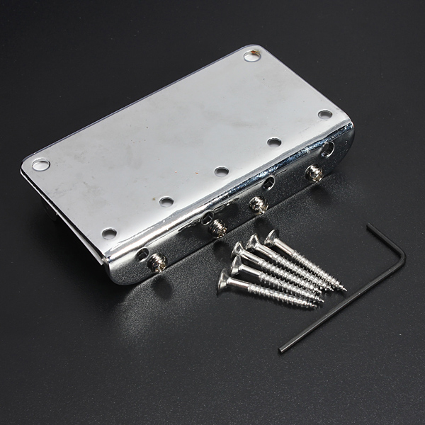 Sweet Center Silver Chrome 4 String Electric Bass Guitar Bridge + 5 Screws + Wrenche(China (Mainland))