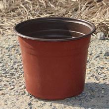 100pcs รอบพลาสติก Nursery Pots หม้อดอกไม้ขนาดเล็ก Hollow Design สำหรับ Terracotta Nursery Planter Garden Decor บ้าน Diy อุปกรณ์(China)