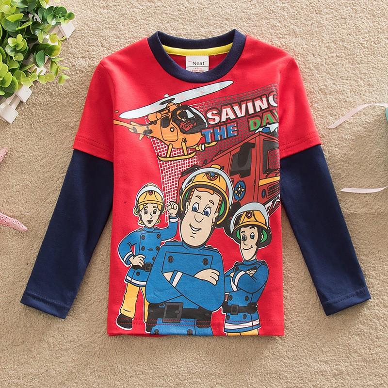 2017 fireman sam good good brand fashion cartoon boy for Good t shirts brands