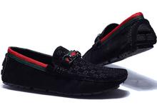 Moda italiana para hombre del holgazán Casual zapatos para hombre del ocio del ante de cuero del conductor canotaje zapatos de la cubierta(China (Mainland))