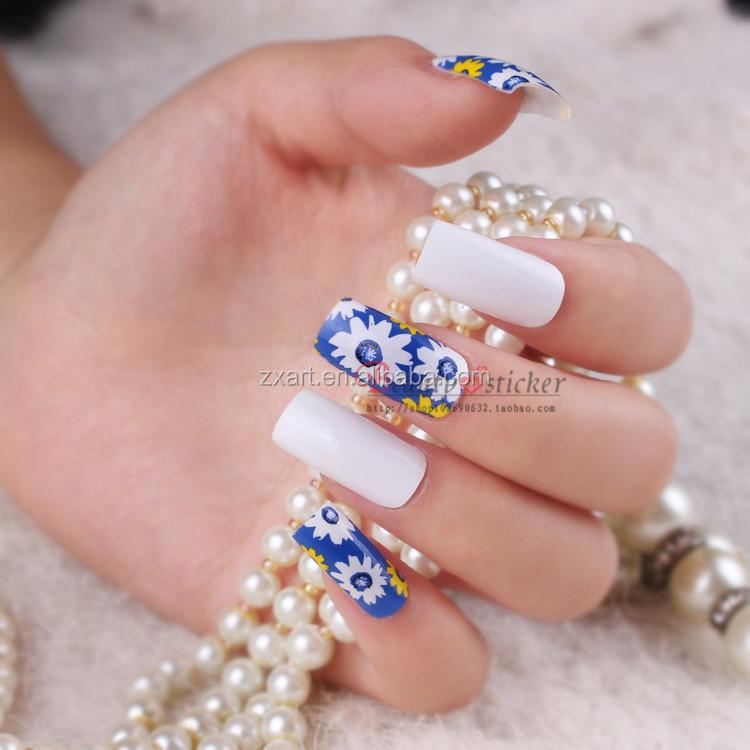 New Design Good Looking Fashion DIY nail sticker flower cute nail wraps(China (Mainland))