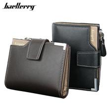 Buy New 2017 Short Wallets Baellerry Genuine Leather+PU Men Wallets Bifold Wallet Men Card Holder Coin Purse Pockets Zipper for $5.67 in AliExpress store