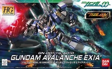 100% Genuine bandai model /Free shipping /00-64 HG 1:144 Avalanche Exia Celestial Being / Assembled gundam Model Robot gunpla