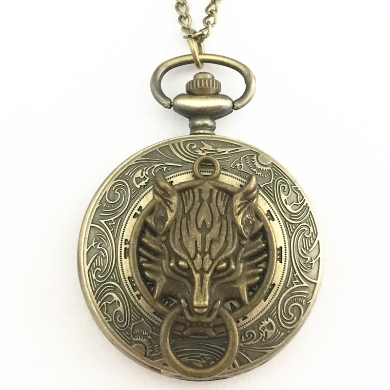 Freeshipping wholesale 20pc a lot Final fantasy pocket watch Necklace Dia47mm UNMJ02(China (Mainland))