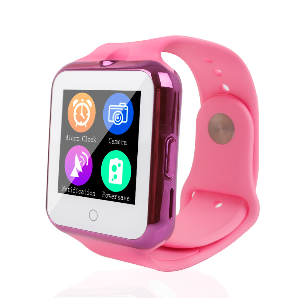 Original SIM Bluetooth Smart Watch Phone Child GSM Wristwatch Girls Wearable Device Heart Rate Monitor for Android and IOS(China (Mainland))