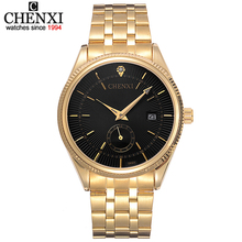 Buy CHENXI Gold Watch Men Watches Top Brand Luxury Famous Wristwatch Male Clock Golden Quartz Wrist Watch Calendar Relogio Masculino for $11.32 in AliExpress store
