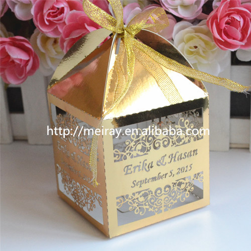 Personalised Indian Wedding Gifts : gold wedding box indian wedding gift wedding favor box personalised ...