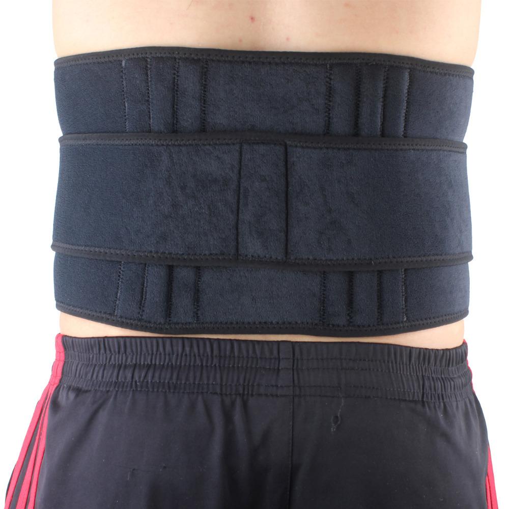 Free Shipping SX532 Black Sports Back Waist Brace Support Strap Wrap Belt Band 6-Spring- Black(China (Mainland))