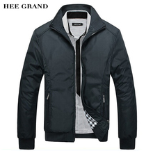 HEE GRAND Men's Jacket Spring Autumn Fashion Overcoat 2016 New Arrival Stand Collar Slim Casual Style Whole Sale 3 Colors MWJ682(China (Mainland))