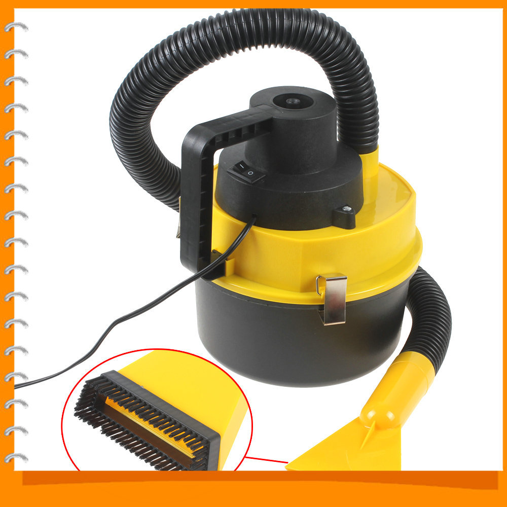 Portable Wet Dry Car Vacuum Cleaner Handheld Mini Auto Car Dust Vacuum Cleaner with Brush / Crevice / Nozzle Head(China (Mainland))