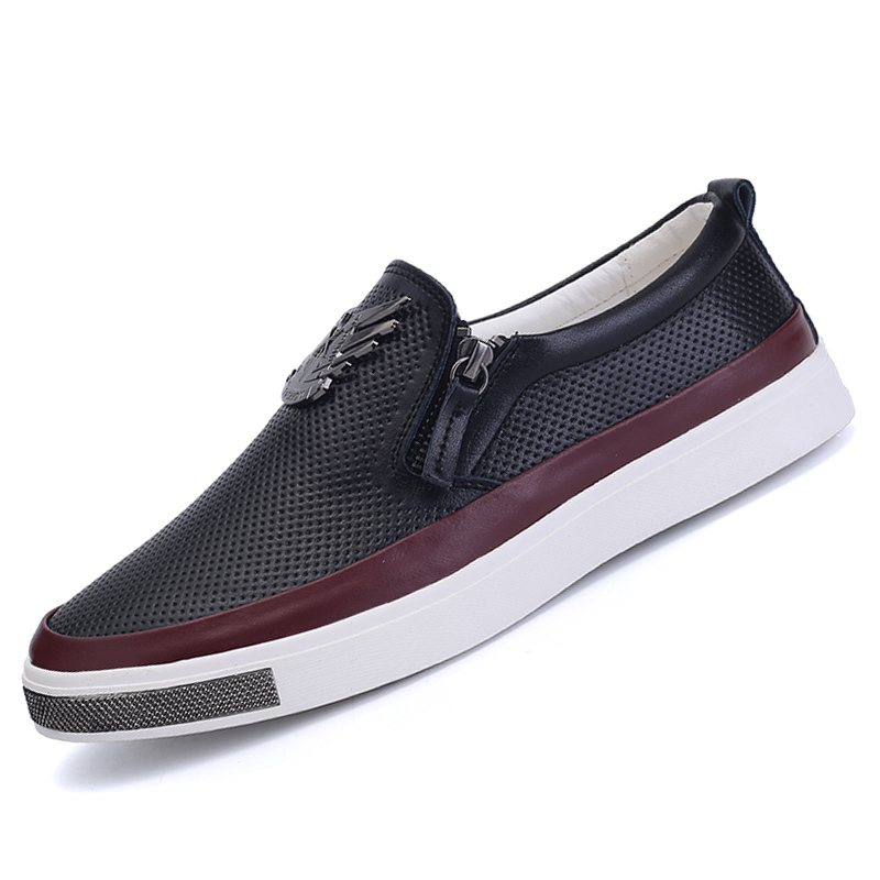 2016 New Fashion men casual shoes Spring summer slip-on runner driving shoes Comfortable breathable flats shoes men X047(China (Mainland))