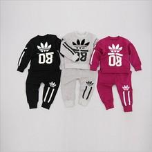 NEW arrival 0-2Y kids clothes Fit spring autumn brand baby boy clothes 2pcs tracksuit clothes set coat + pants sets