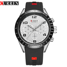 Curren Brand Luxury Men Sports Watches Silicone Men Quartz Military Army Wristwatches Men's Casual Clock Relogio Masculino,W8167