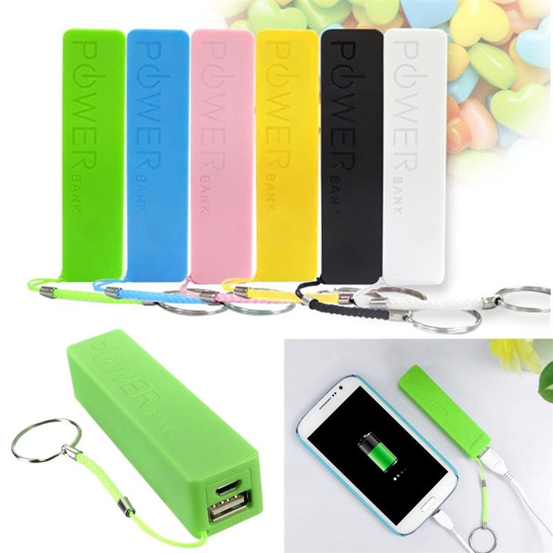Universal Safety Ultra-thin Protable 5V USB Cable Power Bank Cases Kit 18650 Battery Charger DIY Box Holder for all Smart Phones