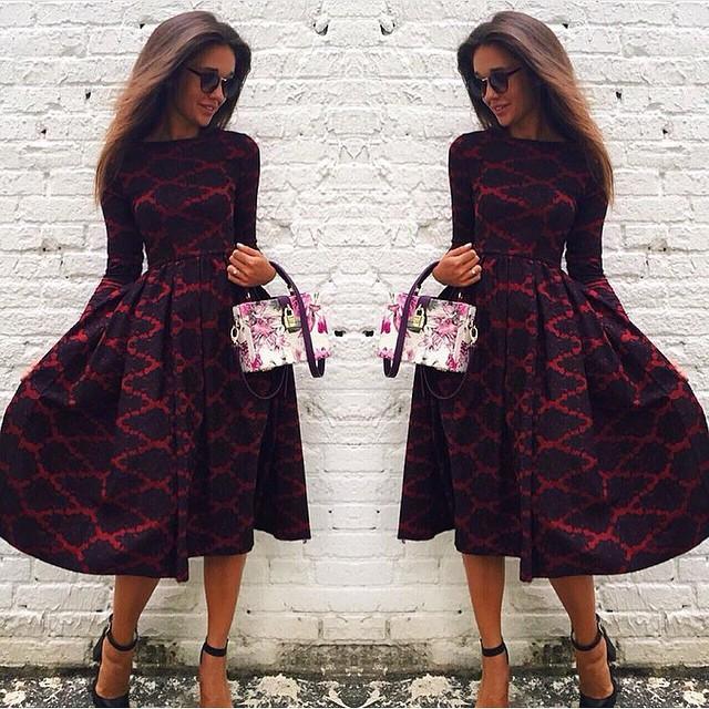 2015 hot sale cosy vestido winter autumn women dress o-neck long sleeve plaid kawaii warm winter dress hot sale(China (Mainland))